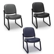 OFM Vinyl Guest Reception Chair (Various Colors) 405-VAM