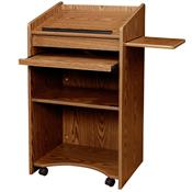 View a larger image of the Oklahoma Sound Aristocrat Non-Sound Lectern (Medium Oak) OS-600-MO.