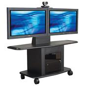 View a large image of the AVTEQ Corporate Series Extra Deep Multimedia Cart for Dual 55 inch Screens GMP-350L-TT2 here.