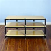 View a larger image of the VTI BL Series 44 in. AV Rack TV Stand (Silver Caps & Black Poles, Oak Shelves) BL503SO here.