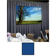 View a larger image of the Da-Lite 36528BUP Fast-Fold Deluxe Drapery Kit (SLV HW, Blue Drapes, 4:3, 10-6x14, 210 Inch).