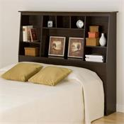 View a larger image of the Prepac Queen-Full-Double Slant Back Bookcase Headboard (Espresso) ESH-6656.