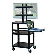 View a larger image of the  VTI Adjustable Height TV Cart with 32 in. TV Mount and Pull Out Shelf FPC4226E here.
