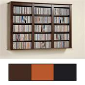 View a larger image of the Prepac Triple-Wide Floating CD Wall Rack (Various Finishes) FW-0523.