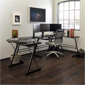 View a larger image of the Walker Edison Command Center Gaming Desk Station (Black) G2D51B29