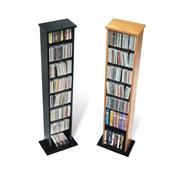 View a larger image of the Prepac CD DVD VHS Tower (Oak or Black) MA-0160.