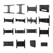 View a large image of the Peerless PLP Series Flat Screen Adapter Plates Various Sizes PLP here.