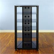 RGR406 with Black Frame and Black Glass Shelves
