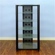 RGR406 with Black Frame and Frosted Glass Shelves