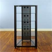 RGR406 with Black Frame and Clear Glass Shelves
