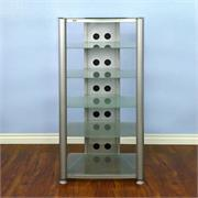 RGR406 with Silver Frame and Frosted Glass Shelves