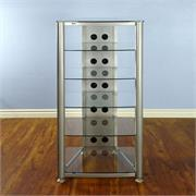 RGR406 with Silver Frame and Clear Glass Shelves