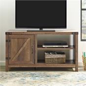 View a larger image of the Walker Edison 44 in. Rustic Farmhouse TV Stand (Rustic Oak ) W44BD1DRO here.