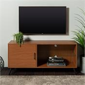 View a larger image of the Walker Edison 52 in. Mid Century Modern Wood TV Stand (Acorn ) W52NORGSPC here.