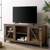View a larger image of the Walker Edison 58 in. Rustic Farmhouse TV Stand Console -Rustic Oak) W58BDGDRO here.