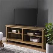 View a larger image of the Walker Edison 58 in. Transitional Wood Corner TV Stand (Reclaimed Barnwood) W58CCRRO here.