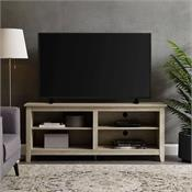 View a larger image of the Walker Edison 58 in. Rustic Wood TV Stand (White Oak ) W58CSPWO here.