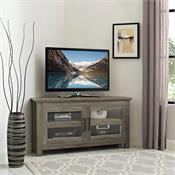 View a larger image of the Walker Edison 44 in. Modern Farmhouse Wood Corner TV Stand (Grey Wash) WQ44CCRGW here.