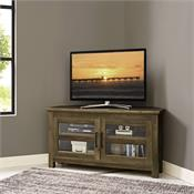 View a larger image of the Walker Edison 44 in. Modern Farmhouse Wood Corner TV Stand (Rustic Oak) WQ44CCRRO here.