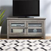 View a larger image of the Walker Edison 44 in. Wood TV Stand (Grey Wash ) WQ44CFDGW here.
