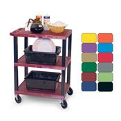 View a larger image of the H. Wilson 3-Shelf Mobile Tuffy Busing Cart (Various Colors) WT34S.