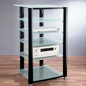 Audio Racks with Glass Shelves